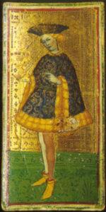 Fante di Coppe from Visconti Sforza Tarot