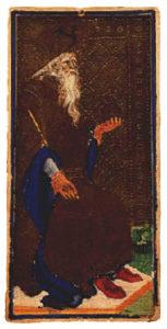 King of Spades tarot visconti sforza
