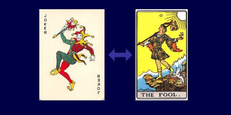 joker and fool tarot cards