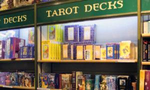 tarot decks on display