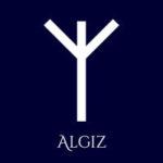 algiz rune in the peace symbol