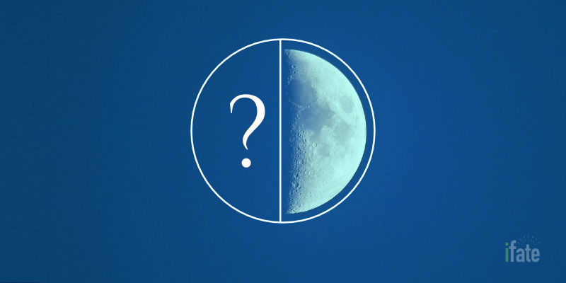 What is a half moon?