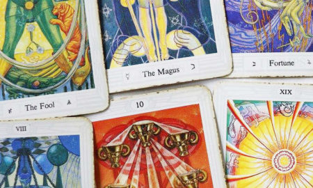 used tarot cards