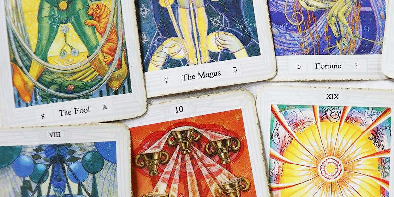 used tarot cards