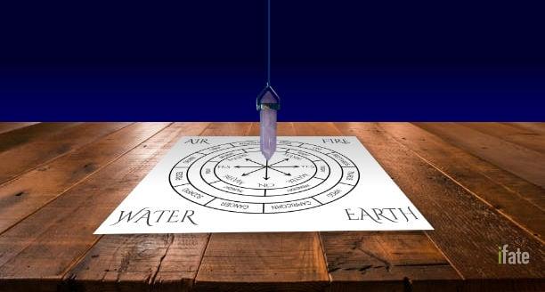 pendulum mat on a table
