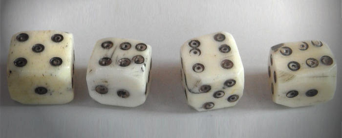 real ivory dice